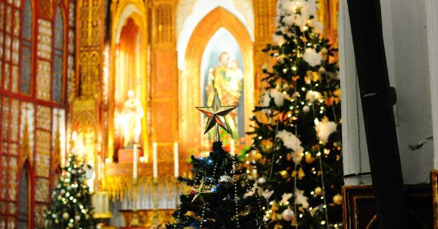 Đón Giáng sinh tại Hà Nội ở những nhà thờ Công giáo