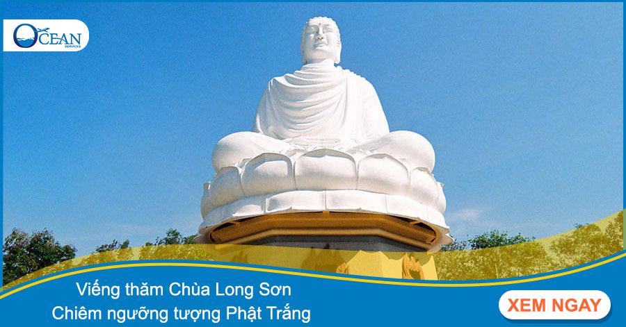 Viếng thăm chùa Long Sơn - chiêm ngưỡng tượng Phật Trắng