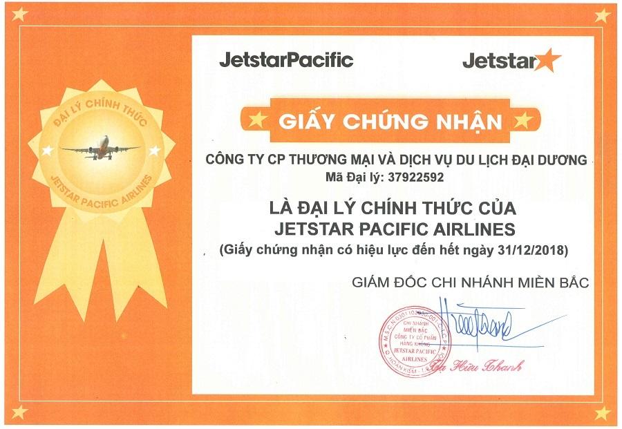 Chứng nhận của Jetstar Pacific