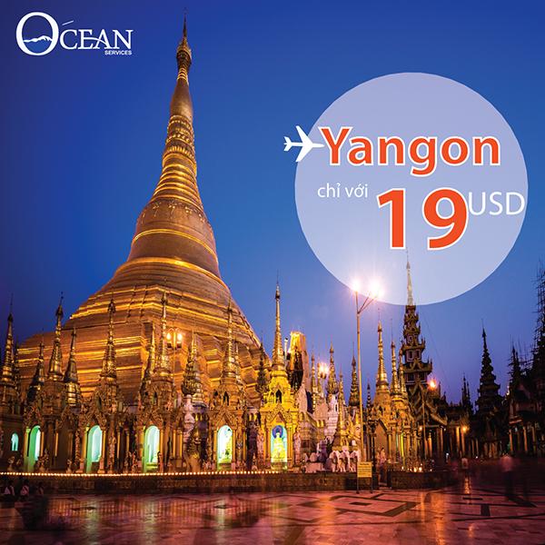 Du lịch Yangon với vé máy bay từ 19USD của Vietnam Airlines