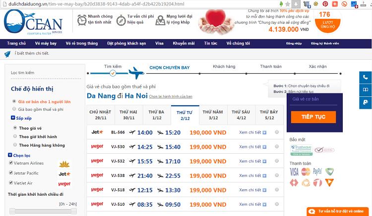 giá vé máy bay đi Hà Nội từ Đà Nẵng - ve may bay di Ha Noi