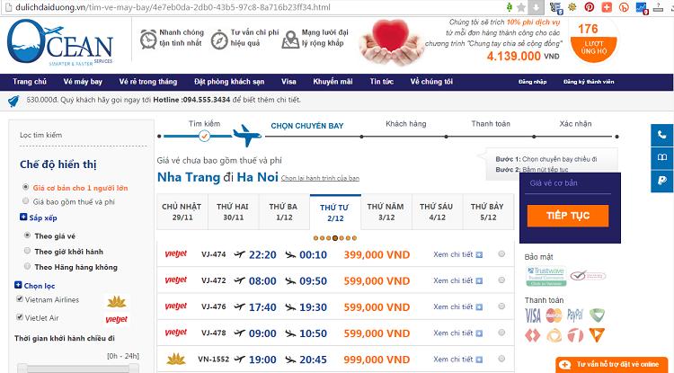 giá vé máy bay đi Hà Nội từ Nha Trang - ve may bay di Ha Noi