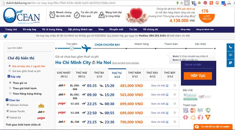 giá vé máy bay đi Hà Nội - vé máy bay Sài Gòn Hà Nội giá rẻ