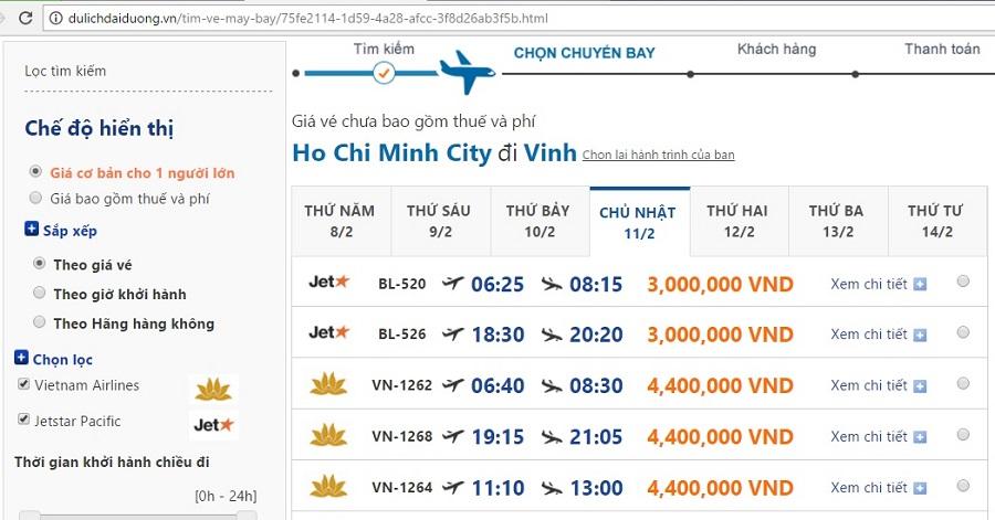 Giá ve may bay ngay 26 tet tại dulichdaiduong.vn