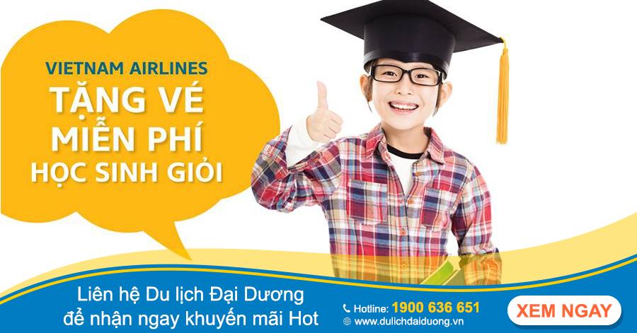 Hot: Vietnam Airlines tặng vé máy bay cho học sinh giỏi