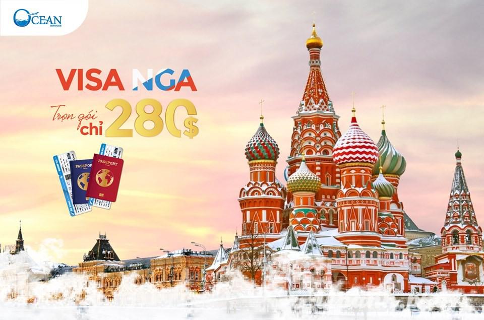 XIn visa đi Nga trọn gói chỉ từ 280$