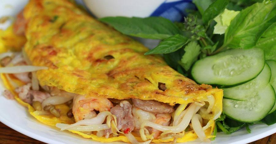 Bánh xèo mực- món ngon ở Nha Trang nghe tên đã thèm