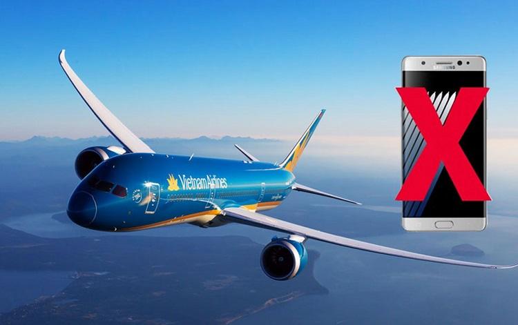 Vietnam Airlines TỪ CHỐI vận chuyển điện thoại Galaxy Note 7 dưới mọi hình thức