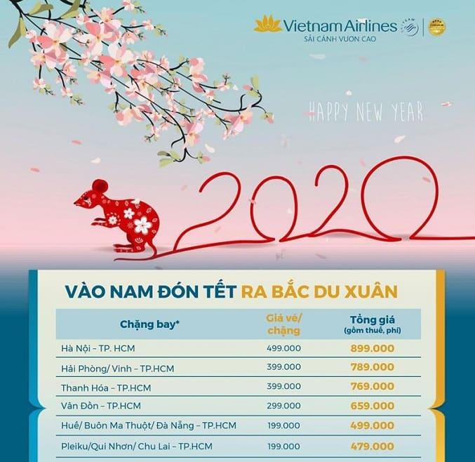 Vào nam đón tết, ra bắc du xuân cùng Vietnam Airlines
