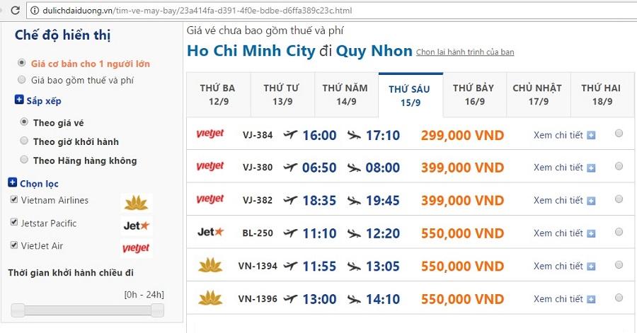 Vé máy bay giá rẻ tphcm đi quy nhơn ngày cuối tuần