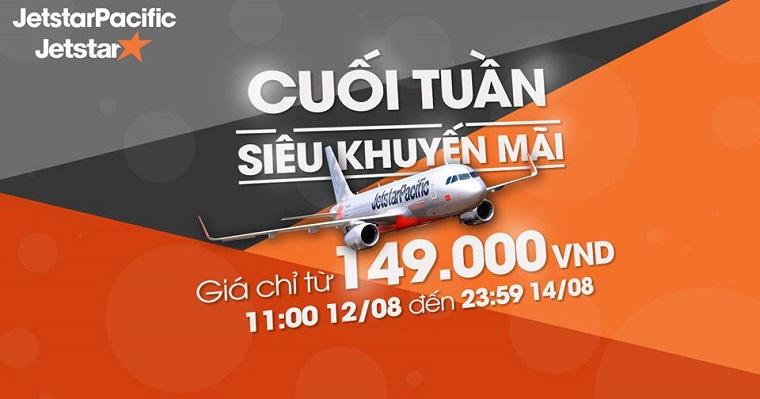 Vé máy bay khuyến mại Jetstar giá từ 149.000đ