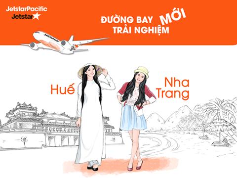 Vé máy bay khuyến mại khai trường đường bay Huế - Nha Trang của Jetstar