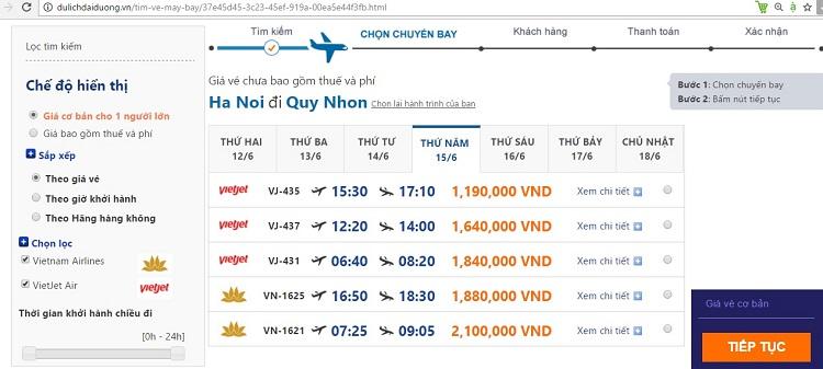 Vé máy bay Hà Nội – Quy Nhơn trong mùa du lịch