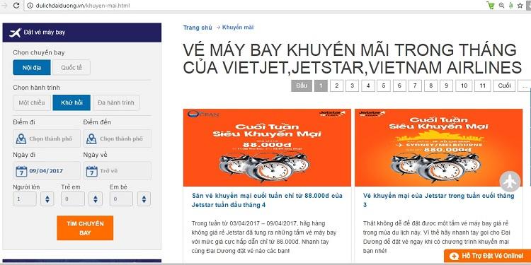 Săn vé máy bay đi Quy nhơn giá rẻ bằng cách theo dõi mục khuyến mãi của dulichdaiduong.vn
